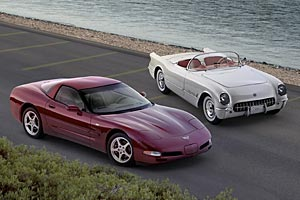 2003 Corvette Coupe & 1953 Corvette